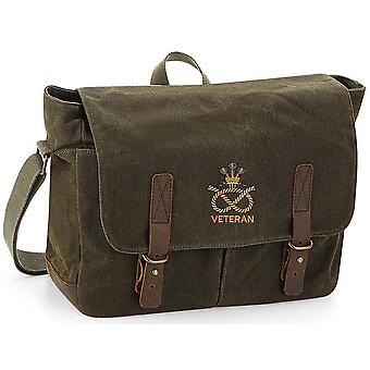 Staffordshire Regiment Veteran - lizenzierte britische Armee bestickt gewachst Leinwand Messenger Bag