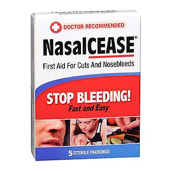 Nasalcease first aid for cuts and nosebleeds sterile packings, 5 ea