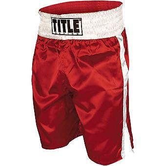 Titre Professional Boxing Trunks - Rouge / Blanc