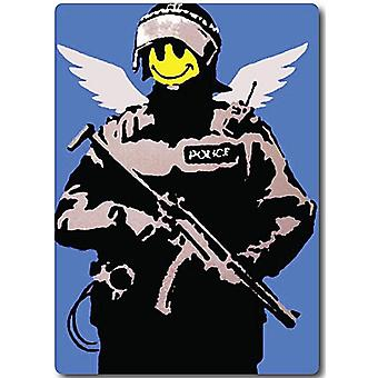 Banksy Smiley Police fridge magnet (2f)