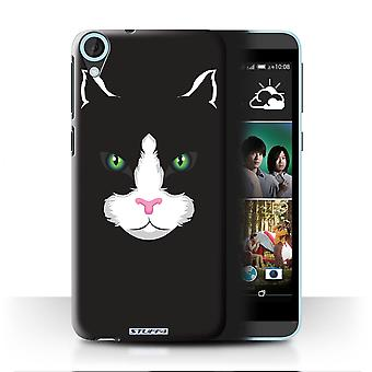 STUFF4 Case/Cover for HTC Desire 820q Dual/Black Cat/Animal Faces