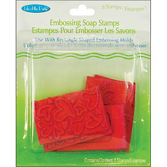 Embossing Soap Stamps 8 Pkg Rectangle 61507