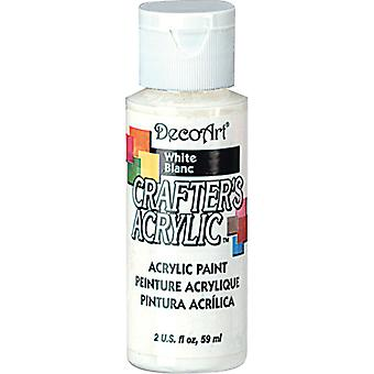Crafter's Acrylic Gloss All Purpose Paint 2 Ounces White Dcag 01