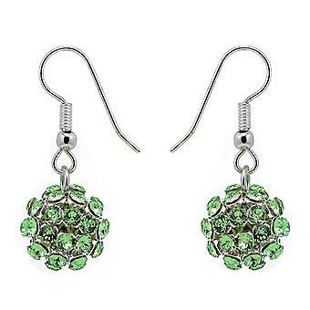 Peridot Crystal Mesh Ball Earrings EMB112.13
