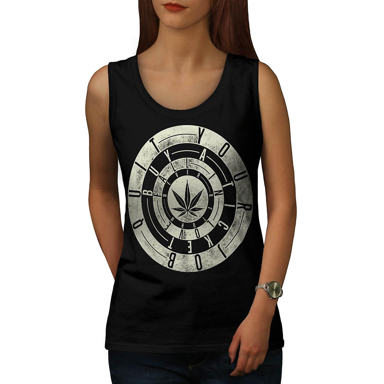 Inspirational Weed Rasta Women Black Tank Top | Wellcoda