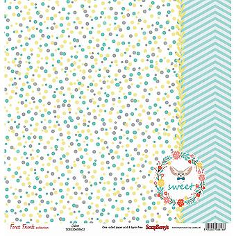 ScrapBerry de Forest Friends ' Single-Sided Cardstock 12