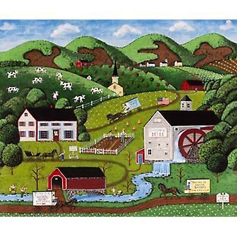 Hillsdale boerderijen Poster Print by Joseph Holodook (24 x 20)