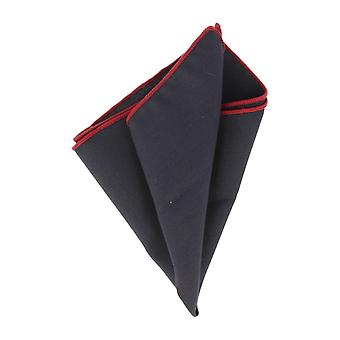 Snobbop handkerchief basic handkerchief Grand towel Navy Blue with red border
