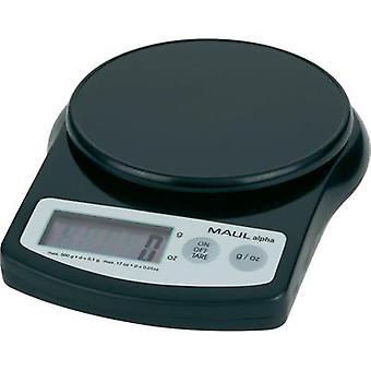 Letter scales Maul MAULalpha 500G Weight range 0.5 kg Readability 0.1 g battery-powered Black