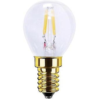 LED (monochrome) Segula 230 V E14 2.2 W = 16 W Warm white EEC: A+ Arbitrary (Ø x L) 35 mm x 65 mm Filament, dimmable 1 p