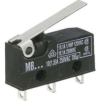 Microswitch 250 Vac 10 A 1 x On/(On) Hartmann MBF5B momentary 1 pc(s)