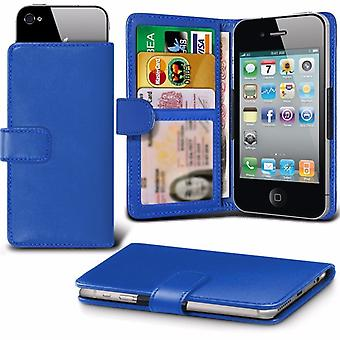 iTronixs - HTC One (E8) (5 inch) Case Clamp Style Wallet Protective PU Leather Case Cover - Blue