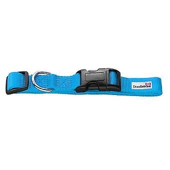 Doodlebone Bold Nylon Collar Cyan Large 25mm X 50-75cm