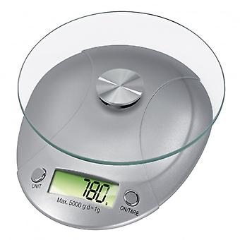 XAVAX Kitchen Scale Milla Silver
