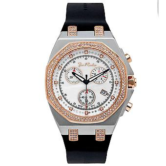 Joe Rodeo diamond men's watch - PANAMA rose gold 2.15 ctw