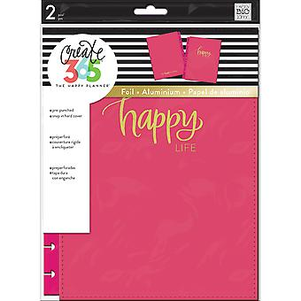 Create 365 Classic Snap-In Hard Cover Planner-Happy Life COLC-1