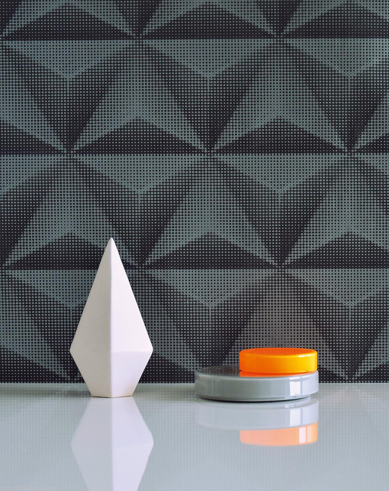 3D Effect Wallpaper Geometric Unplugged Dotted Textured Black Grey Galerie