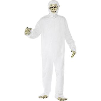 Yeti costume deluxe Yeti Monster Bigfoot costume 6 pieces white Halloween size M