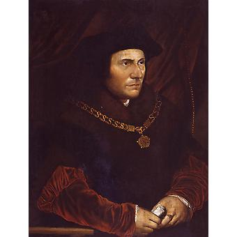 Hans The Younger - Sir Thomas More Portrait Poster Print Giclee