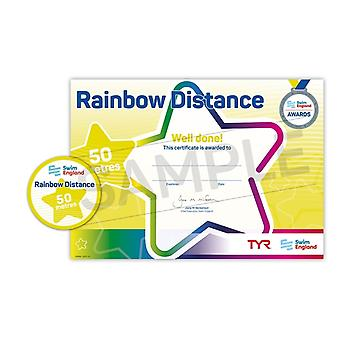 ASA Swim England Rainbow Distance Swimming Award - 50M