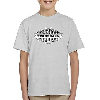 Tallebudgera Creek pescadores 1869 preto camiseta infantil