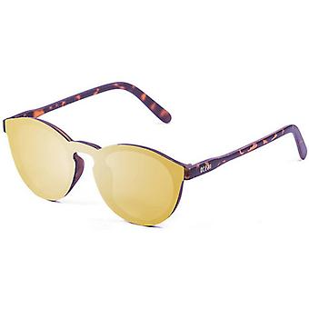 Ocean Milan Flat Lense Sunglasses - Brown/Gold
