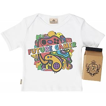 Spoilt Rotten Future Gamer Babys T-Shirt 100% Organic In Milk Carton