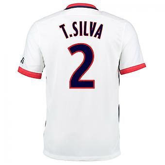 2015-16 PSG Nike Away Kit (T.Silva 2)