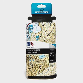 Lifeventure Giant Towel (Snowdon OS Map Print)