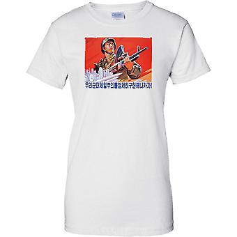 Postkarte von DRPK Nord Lorea - kommunistische Propaganda - Damen T Shirt