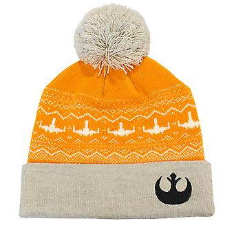 Official Star Wars Rebel Alliance Winter Beanie / Bobble Hat
