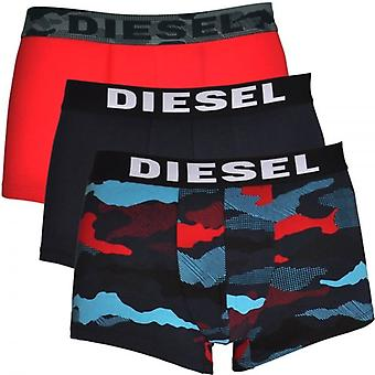 DIESEL 3-Pack Boxer Trunk UMBX-Shawn, Red / Navy / Camo Print, Medium