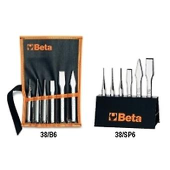 Beta 38 /B6 6Pc Punch & Chisel Set In Wallet