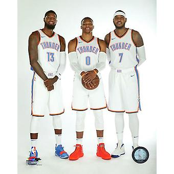 Paul George Russell Westbrook & Carmelo Anthony Photo Print