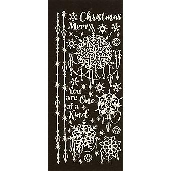 Dazzles Stickers-Jeweled Snowflakes-Pearl Silver DAZ-2594