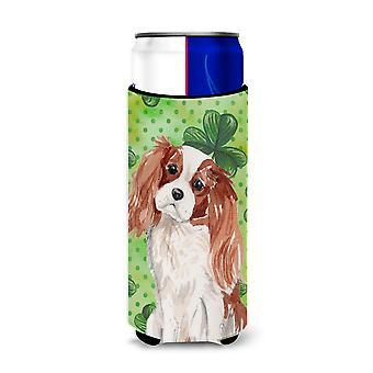 Blenheim Cavalier Spaniel St. Patrick's Michelob Ultra Hugger for slim cans
