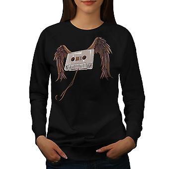 Cassette vleugels Song muziek vrouwen BlackSweatshirt | Wellcoda