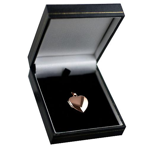 cuore di 9ct Rose Gold 22x19mm pianura Locket