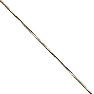 9ct Gold 17x14mm plain oval Disc with belcher Chain 16 inches Only Suitable for Children