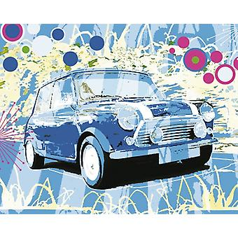 Vintage Mini Cooper Poster Print by Michael Cheung (20 x 16)