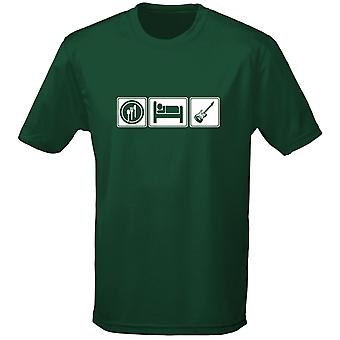 Eten slapen gitaar Mens T-Shirt 10 kleuren (S-3XL) door swagwear