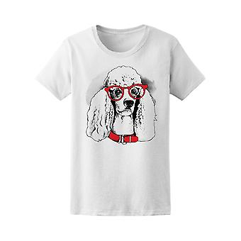 Dog Poodle In Glasses & Collar  Tee Women's -Image by Shutterstock