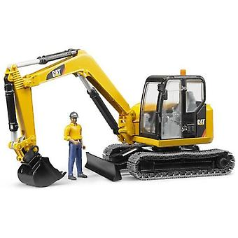 Bruder Miniexcavadora Cat With Worker