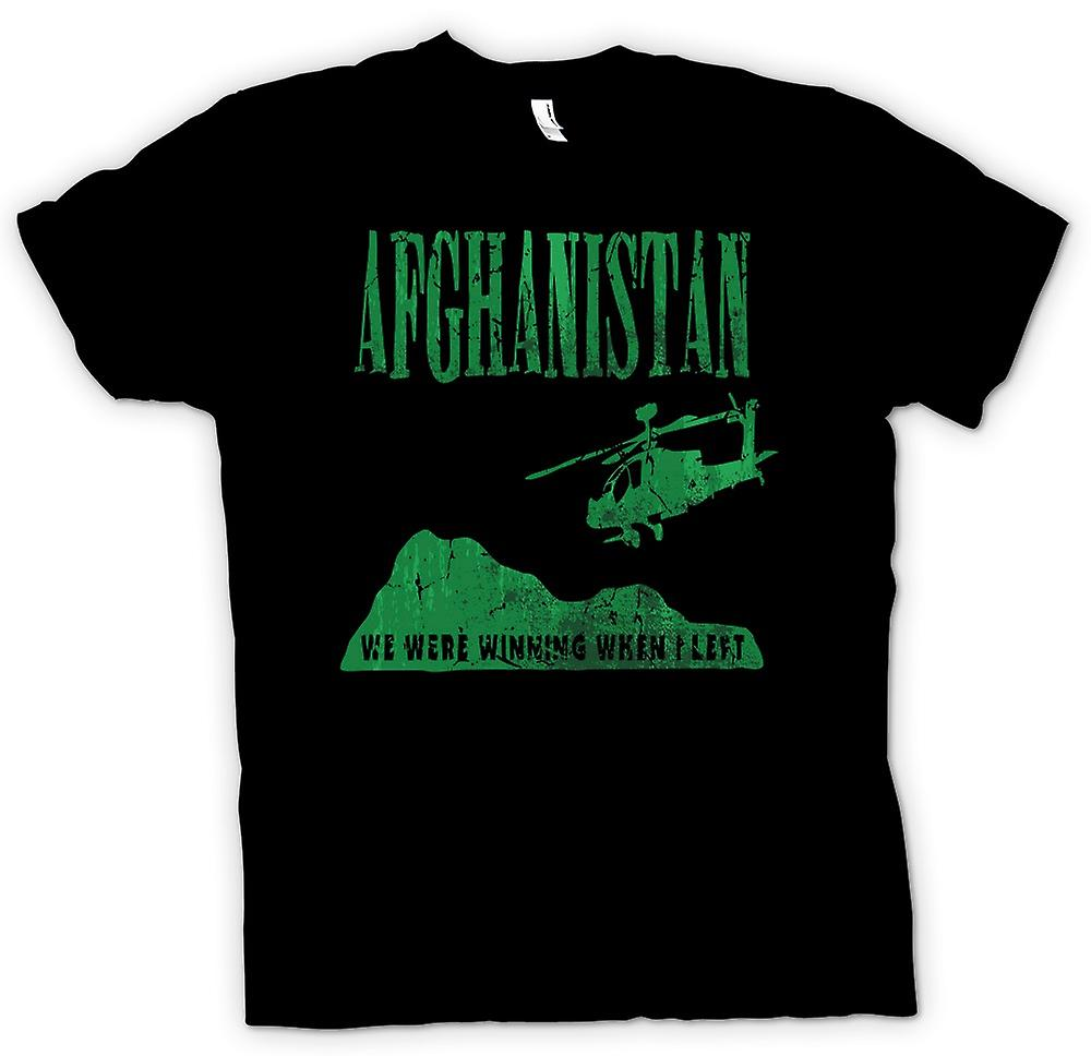 Mens T-shirt - Afghanistan  - We Were Winning When I Left