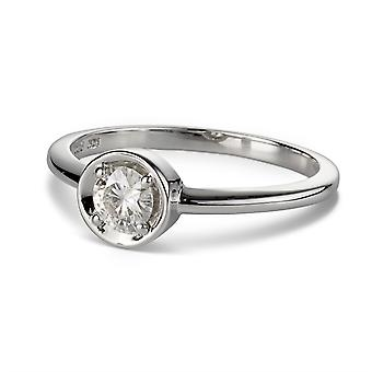 För evigt Classic runt 4,5 mm Moissanite mode Ring, 0,33 ct DAGG