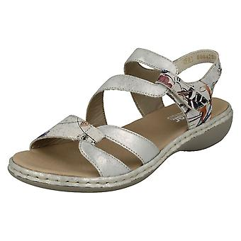 Ladie Rieker Casual Slingback Sandals 65969-82 - Multi Synthetic - UK Size 3.5 - EU Size 36 - US Size 5.5