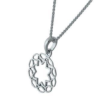 Orphelia sølv 925 kæde med vedhæng cirkel ZH-7076