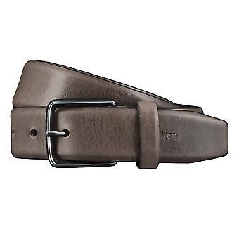 Strellson belts men's belts leather belt grey 4432
