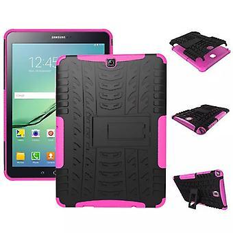 Hybrid Outdoor Schutzhülle Case Pink für Samsung Galaxy Tab S2 9.7 T810 T815N Tasche