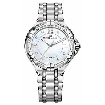 Maurice Lacroix Womens Aikon Mother Of Pearl Dial Stainless Steel Bracelet AI1006-SD502-170-1 Watch